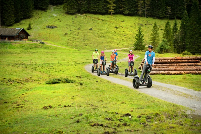 Take a trip wuth the segway through the landscape of the Salzburgerland